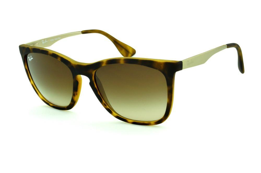 fe3a880317291 Óculos Ray-Ban RB4238 efeito onça fosco lente marrom degradê