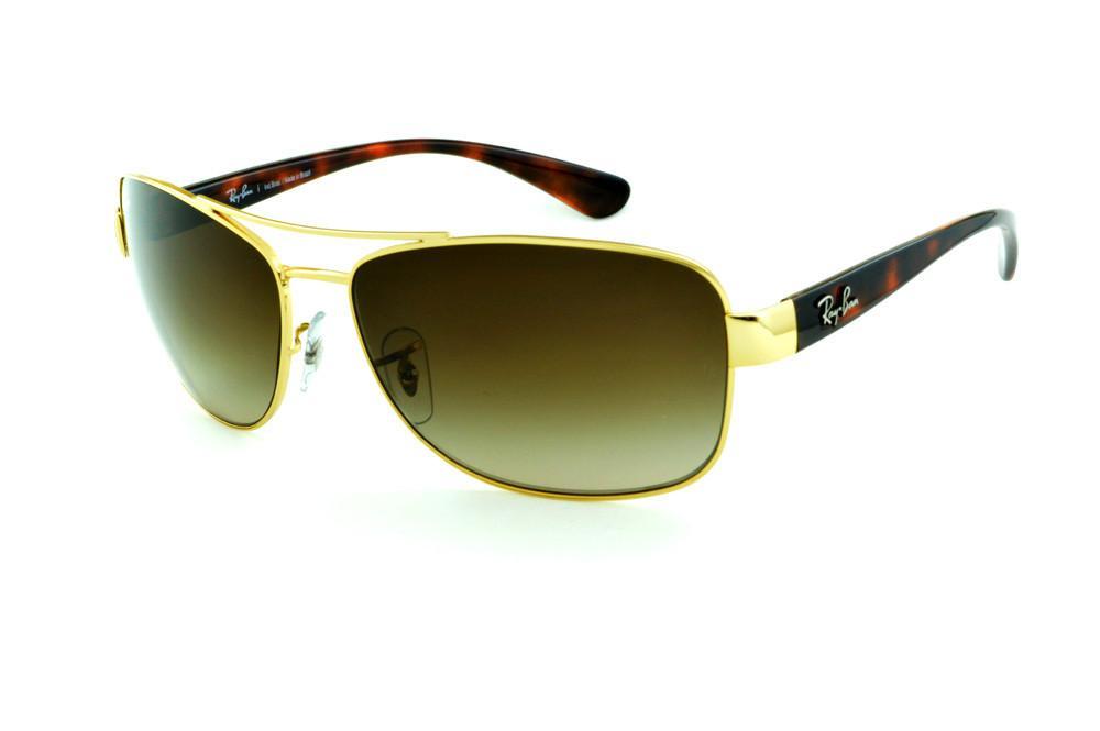 8a46a3e98ce5e Óculos Ray-Ban RB3518 dourado haste efeito onça demi tartaruga