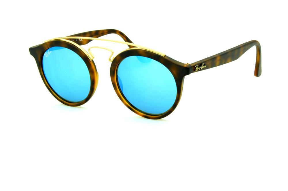 f997a3473 Óculos Ray-Ban de Sol RB4256 Gatsby tartaruga onça fosco e lente azul