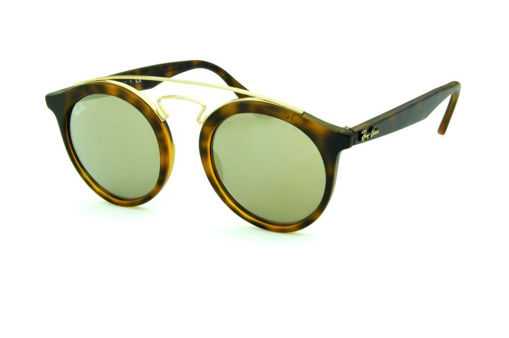 f870d7cdf8c2f Óculos Ray-Ban de Sol RB4256 Gatsby Small tartaruga fosco com lente  espelhada bronze