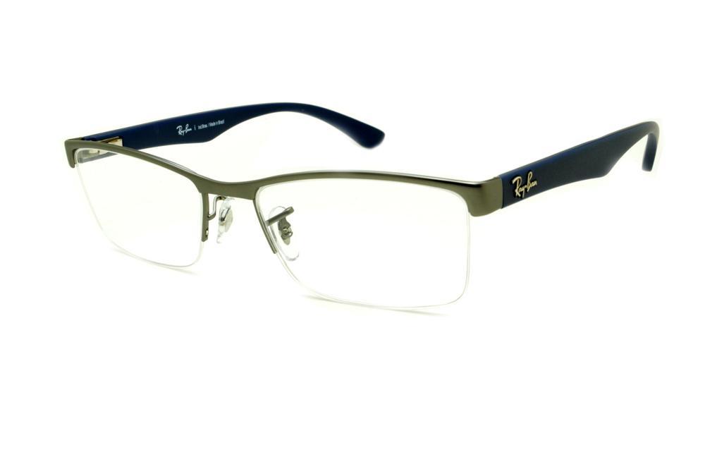 Óculos Ray-Ban RB6301 grafite fio de nylon e haste azul cb2caa2edd