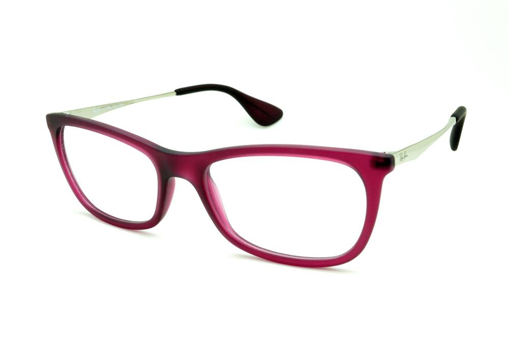 5c83304eaeef1 Óculos Ray-Ban RB7041 pink roxo haste em metal super leve