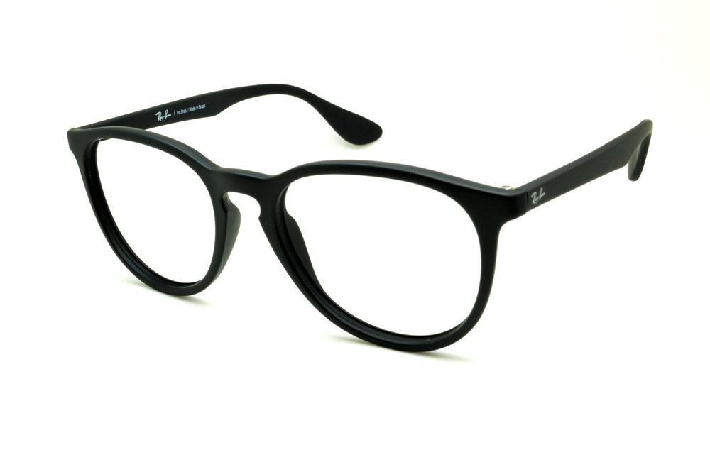 Óculos Ray-Ban RB7046 preto fosco escrita branca 016f11a5bf