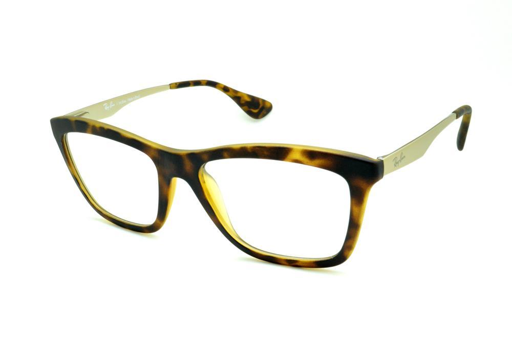 64dbd4b9e3973 Óculos Ray-Ban tartaruga demi fosco efeito onça acetato e metal monel