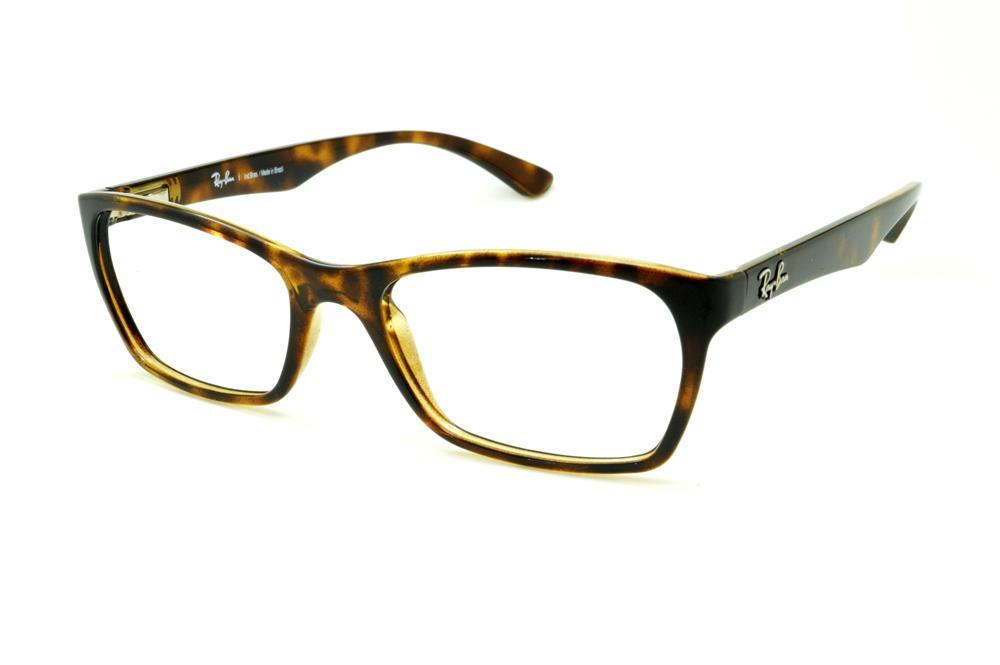 Óculos Ray-Ban tartaruga demi efeito onça em acetato com haste flexível de  mola 53c7884cd0