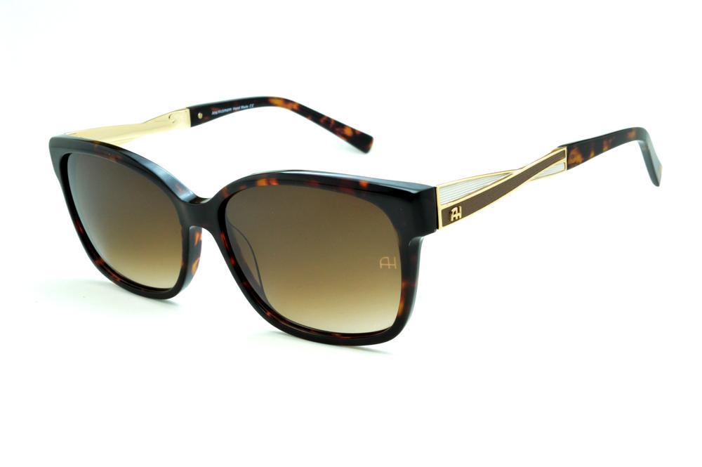 df916aa9d5ce1 Óculos de Sol Ana Hickmann AH9183 demi tartaruga com haste efeito  entrelaçado branco e marrom