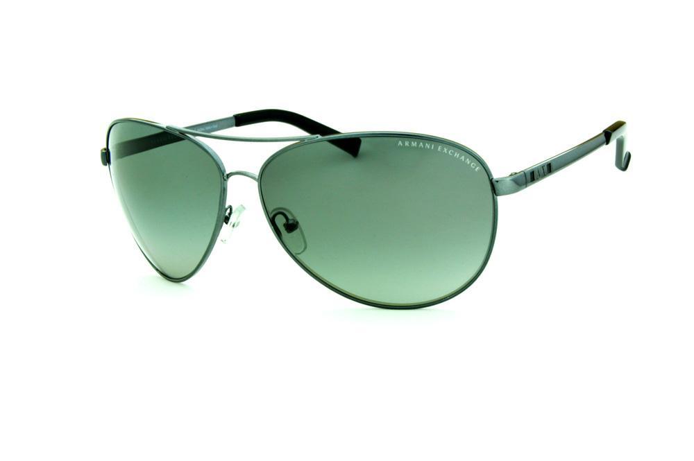 31e7d282c83cd Óculos de Sol Armani Exchange AX 2006 cinza claro e logo preto