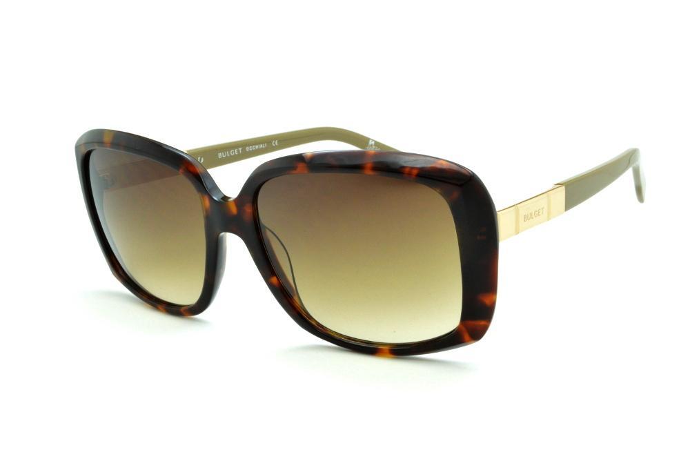 1d5d7c8eb6461 Óculos de Sol Bulget cor demi tartaruga efeito onça com haste verde oliva e  detalhe dourado