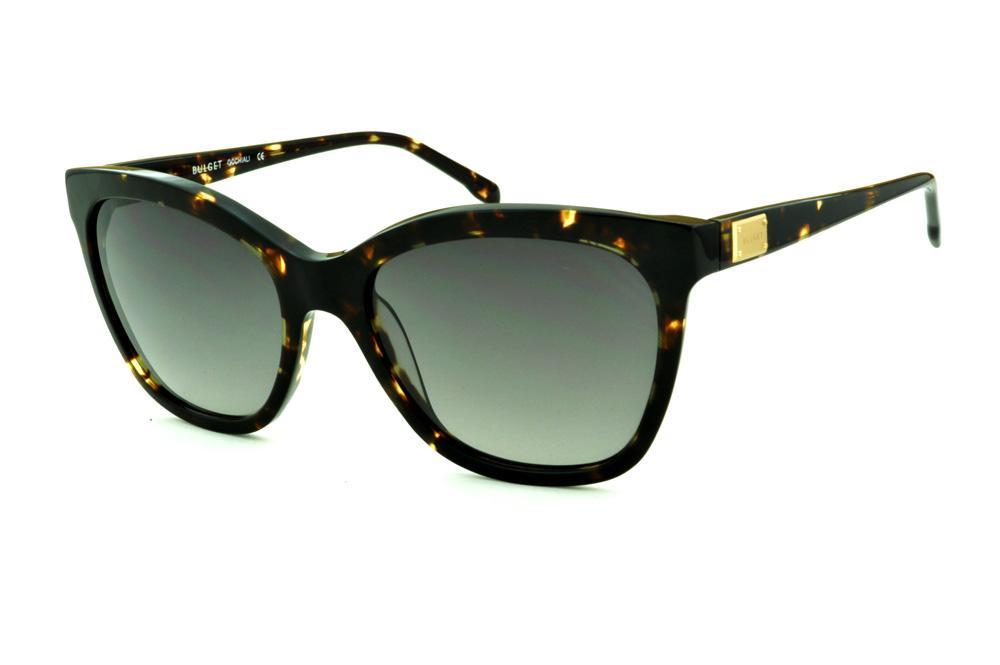 Óculos de Sol Bulget cor demi tartaruga efeito onça e detalhe dourado 55f581a04d