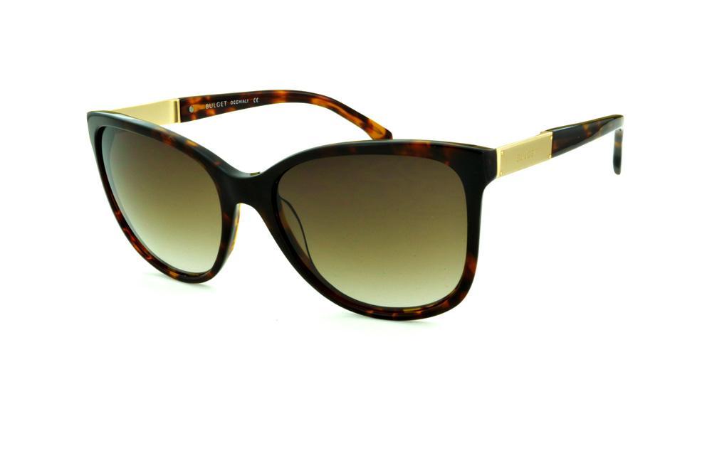 b535788b2f6b8 Óculos de Sol Bulget cor demi tartaruga efeito onça e detalhe dourado