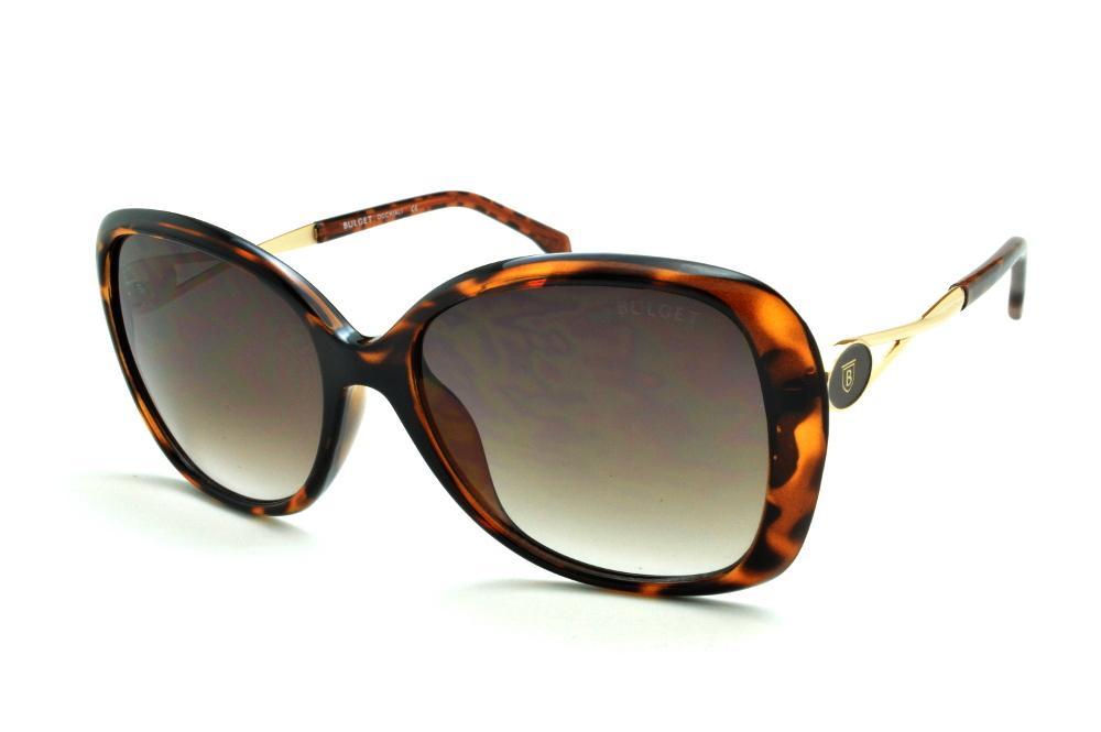 647075908 Óculos de Sol Bulget cor demi/tartaruga efeito onça e detalhe dourado