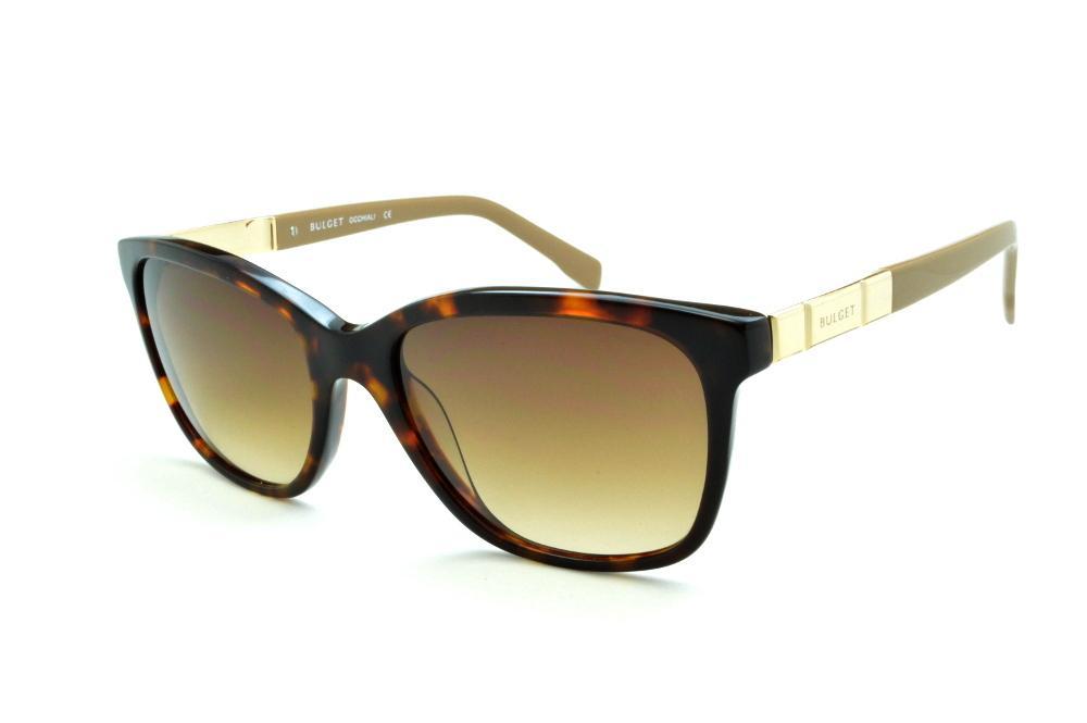 bef18b92ac6c7 Óculos de Sol Bulget modelo gatinho cor demi tartaruga efeito onça com  haste areia e detalhe dourado