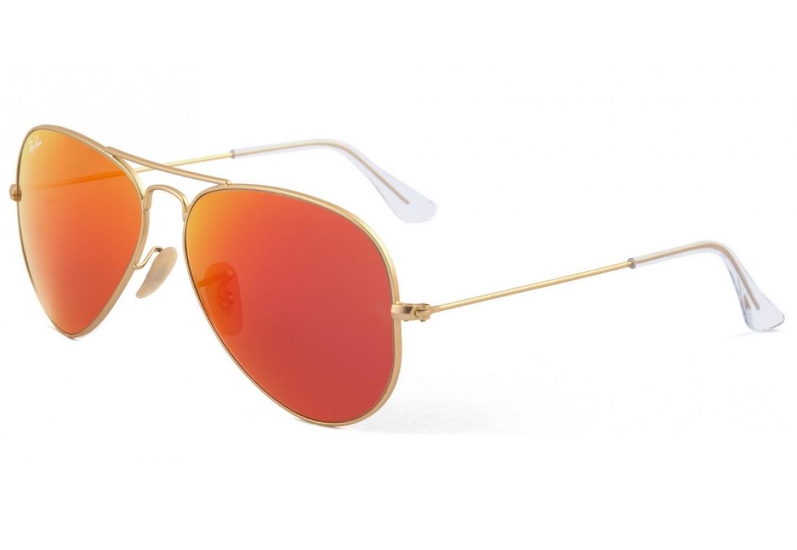 0836661d6 Óculos Ray-Ban Aviador RB3025 dourado com lente vermelha amarela espelhada