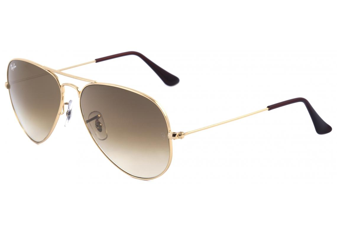 07aeb93a01da3 ... where to buy Óculos ray ban aviador rb3025 dourado e lente degradê  marrom 251dd c7463