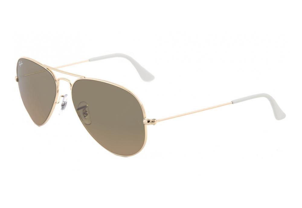 23bda4e19 Óculos Ray-Ban Aviador RB3025 dourado com lente marrom espelhada