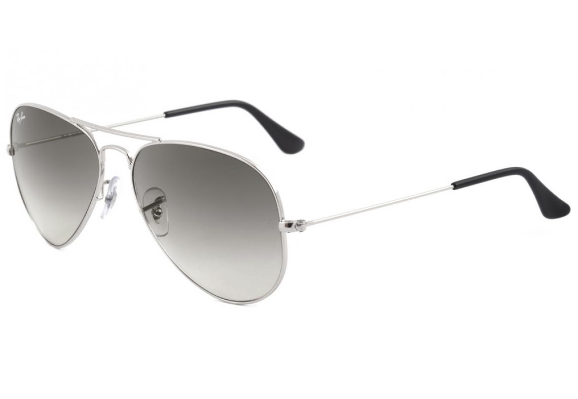 55cdf586be654 Óculos Ray-Ban Aviador RB3025 prata lente degradê fumê