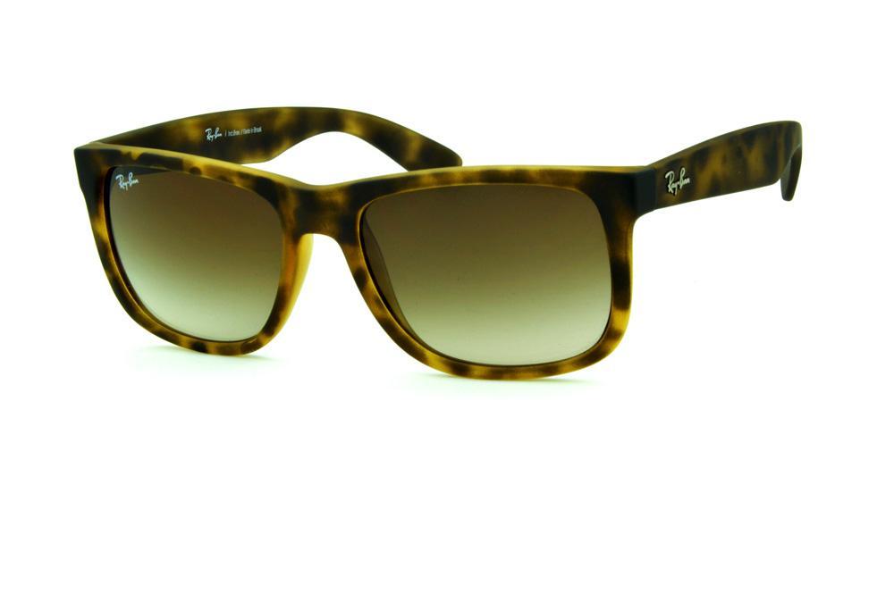 Óculos Ray-Ban RB4165 cor efeito onça marrom e bege 03e7a4900e