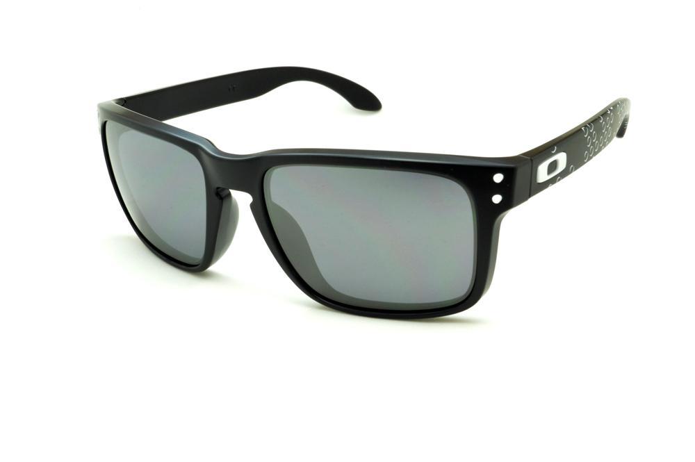 f773269b46015 Óculos de sol Oakley OO9102 Holbrook preto com haste bolha e detalhe branco