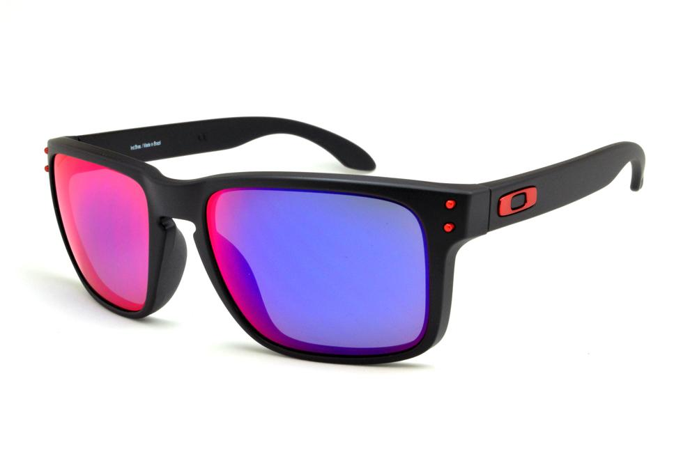 427fec67a5 Óculos de sol Oakley OO9102L Holbrook preto com lente efeito azul /violeta/vermelho/roxo
