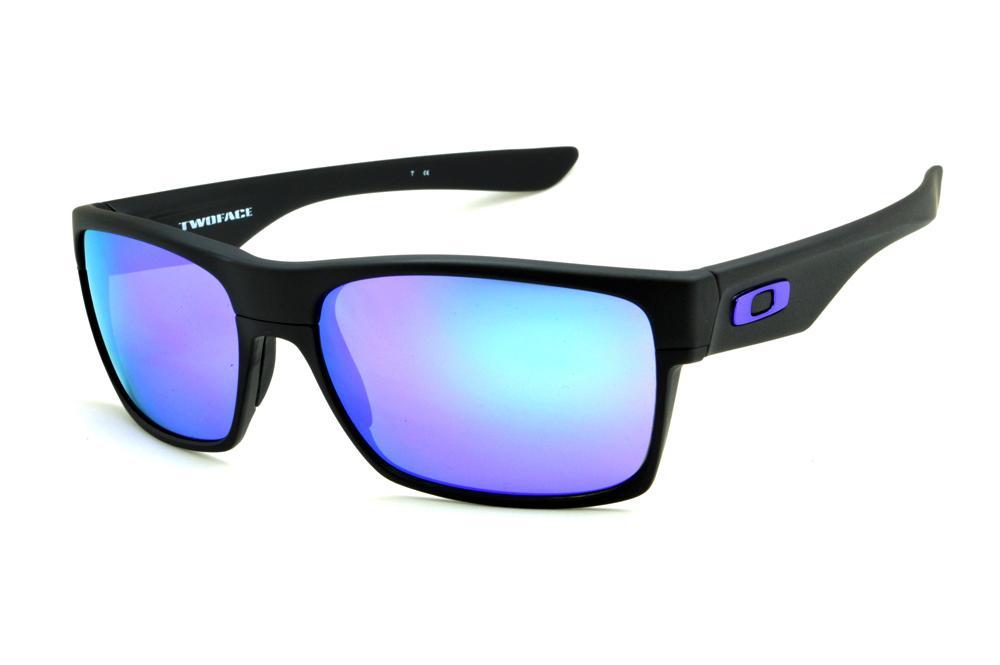 eadf136060337 Óculos de sol Oakley OO9189 Twoface preto com lente roxa